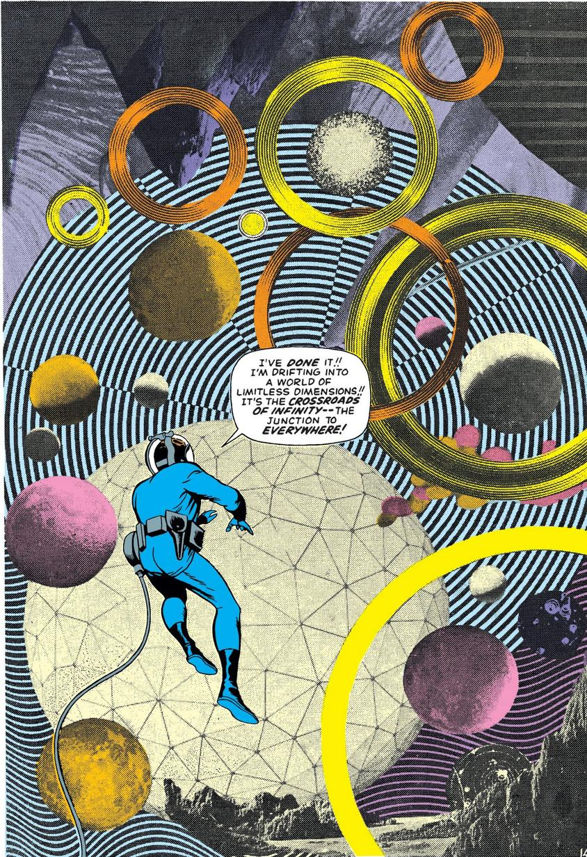 The Negative Zone Jack Kirby collage