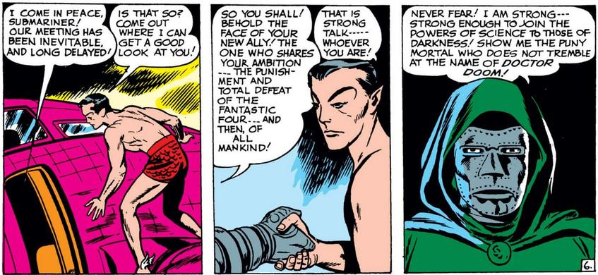 Namor meets Doctor Doom