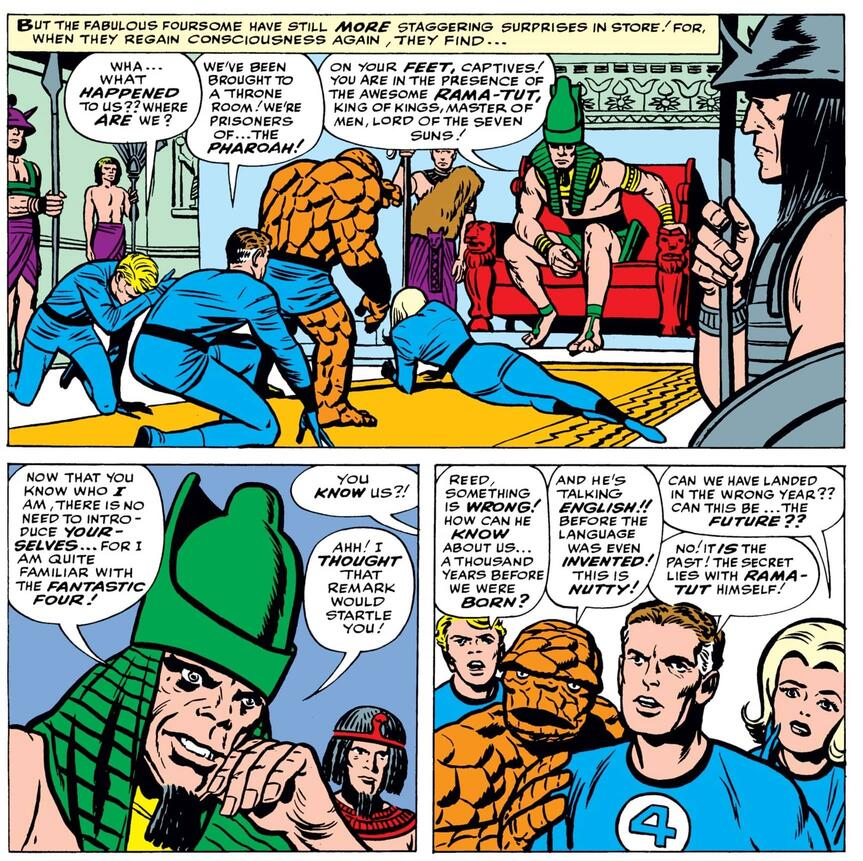 """The first appearance of """"Rama-Tut"""" in FANTASTIC FOUR (1961) #19."""