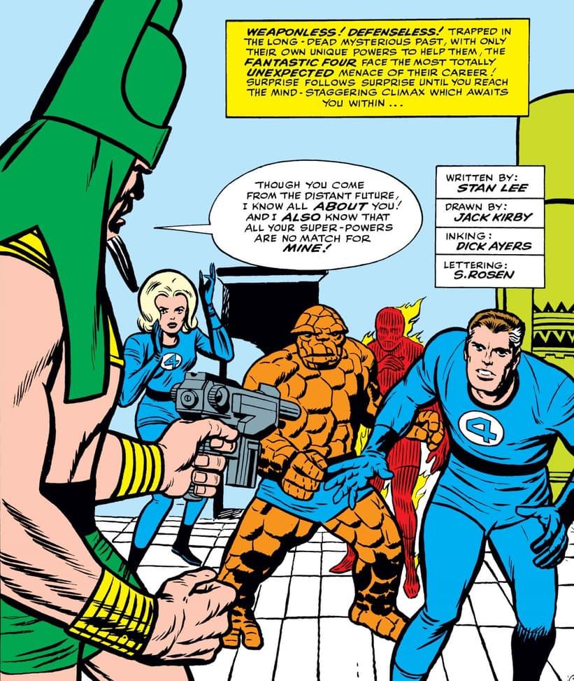 The Fantastic Four encounter Rama-Tut in FANTASTIC FOUR (1961) #19.