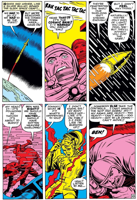 The origin of the Fantastic Four in FANTASTIC FOUR (1961) #1.