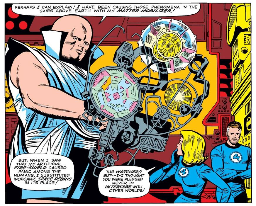 The Watcher saves planet Earth in FANTASTIC FOUR (1961) #48.