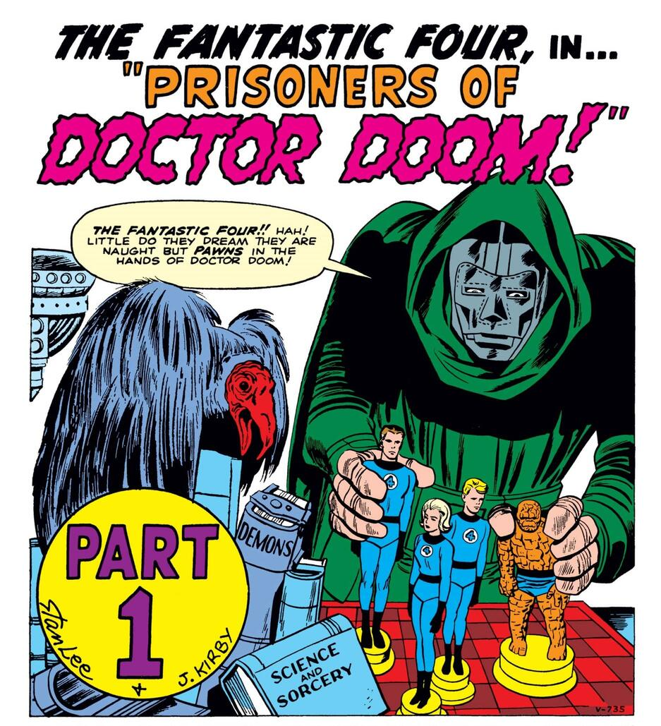 The first appearance of Doctor Doom!