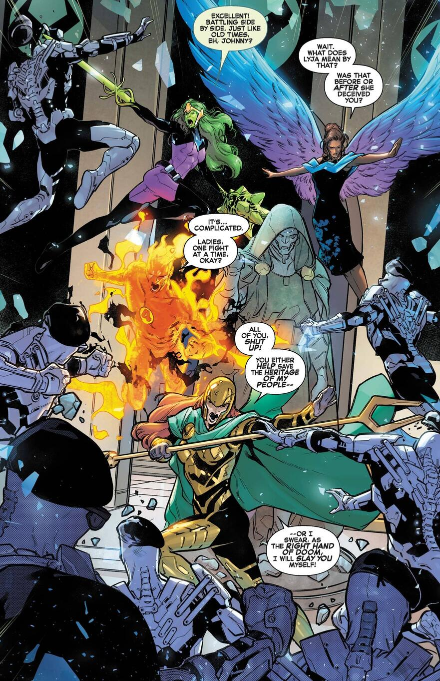 Johnny Storm faces a blast from the past in FANTASTIC FOUR (2018) #32.