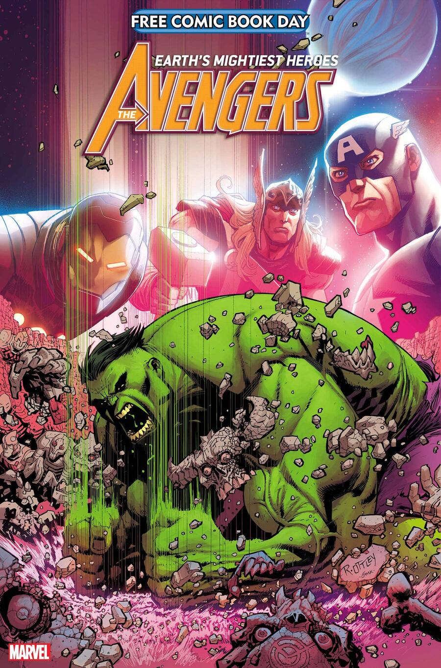 FREE COMIC BOOK DAY 2021: AVENGERS/HULK cover by Ryan Ottley