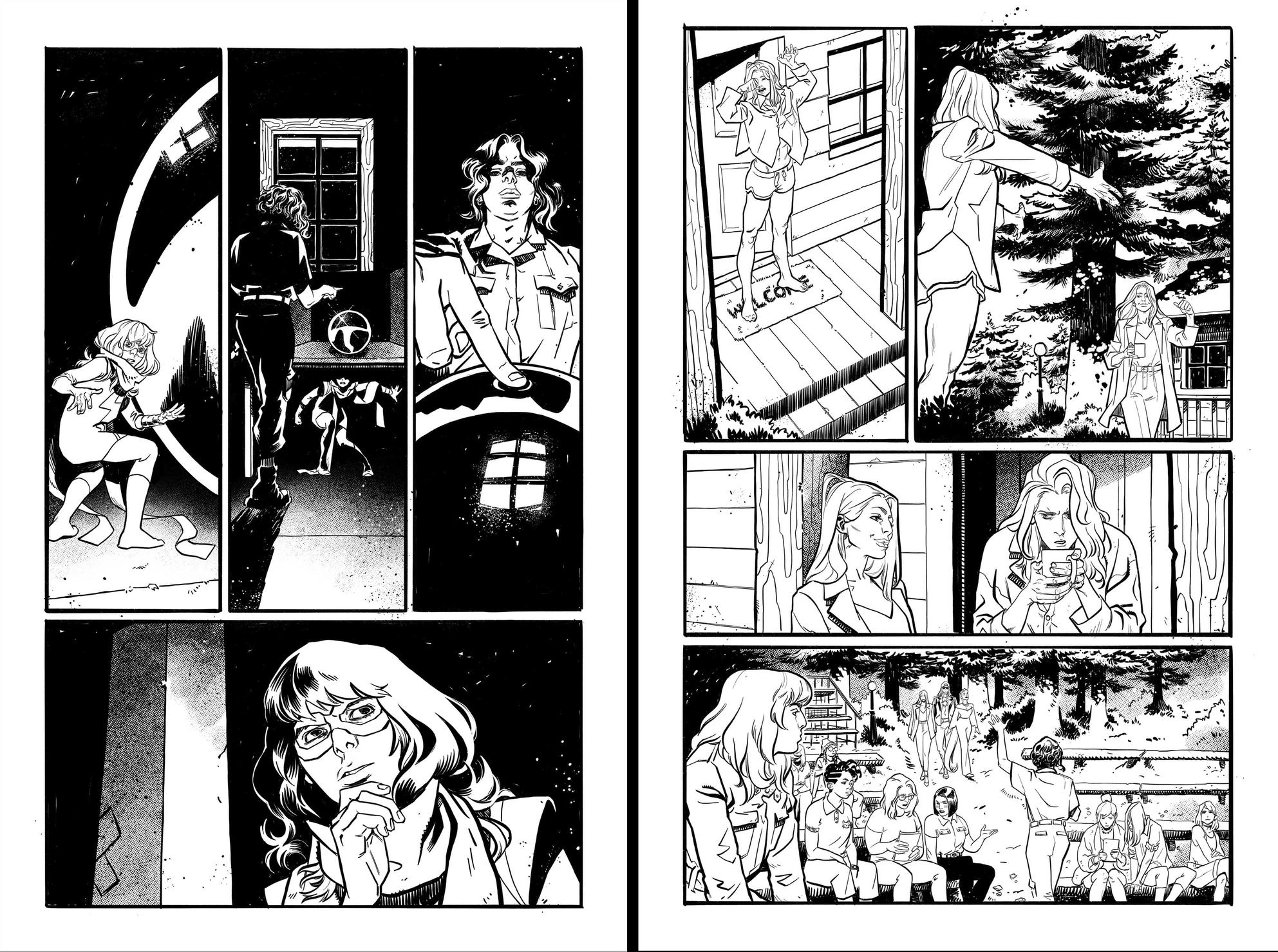 Fearless #3 inks by Claire Roe