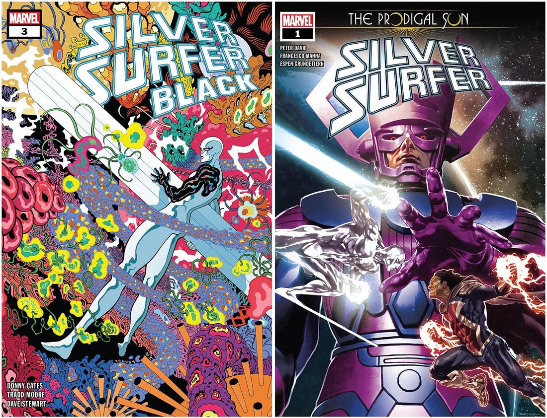 SILVER SURFER: BLACK #3 and SILVER SURFER: THE PRODIGAL SUN #1