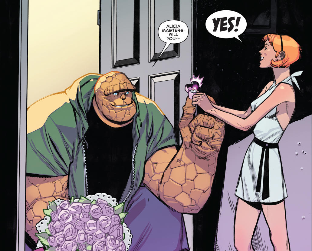 Thing proposes to Alicia