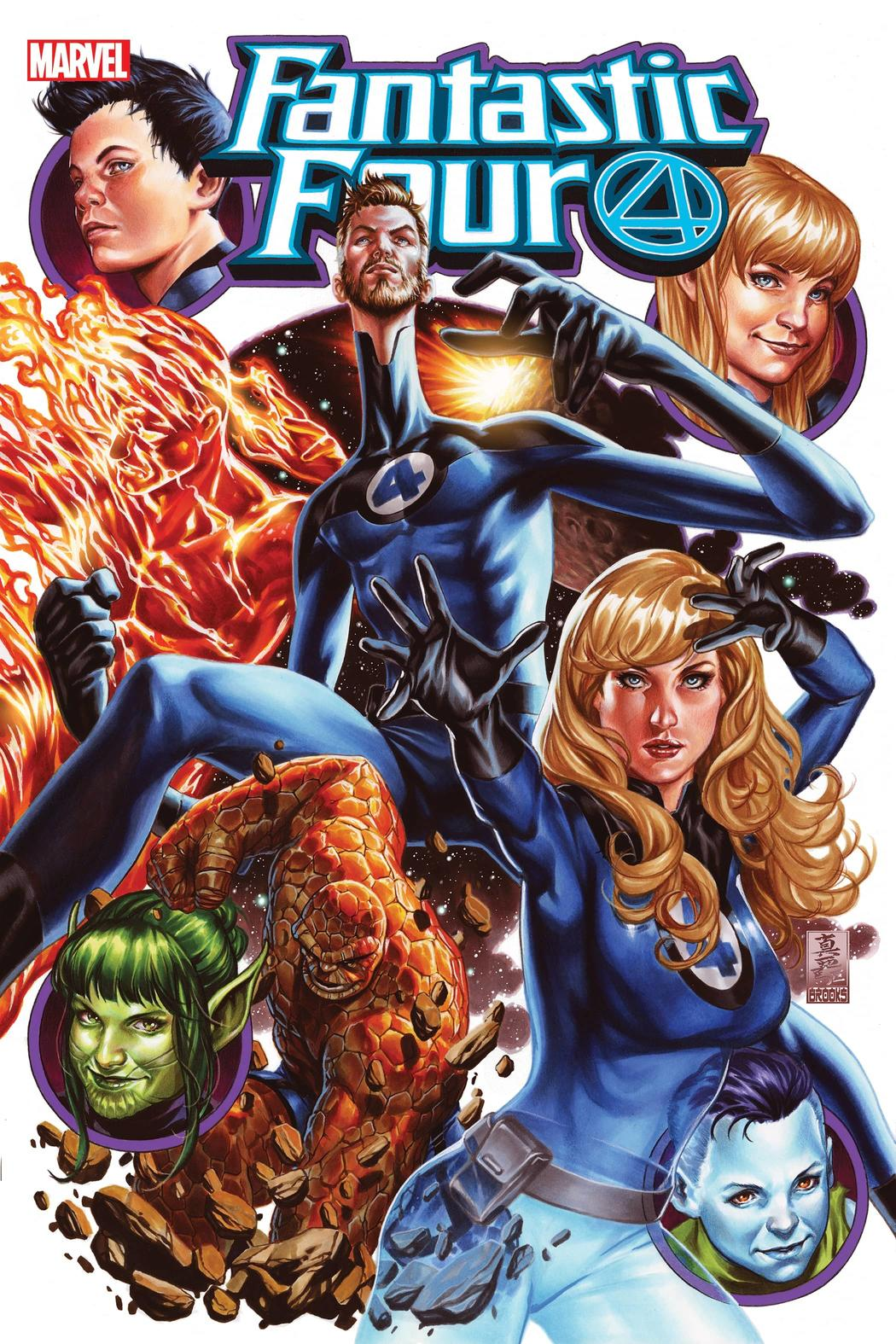 FANTASTIC FOUR #25 WRITTEN BY DAN SLOTT, ART BY R.B. SILVA, COVER BY MARK BROOKS