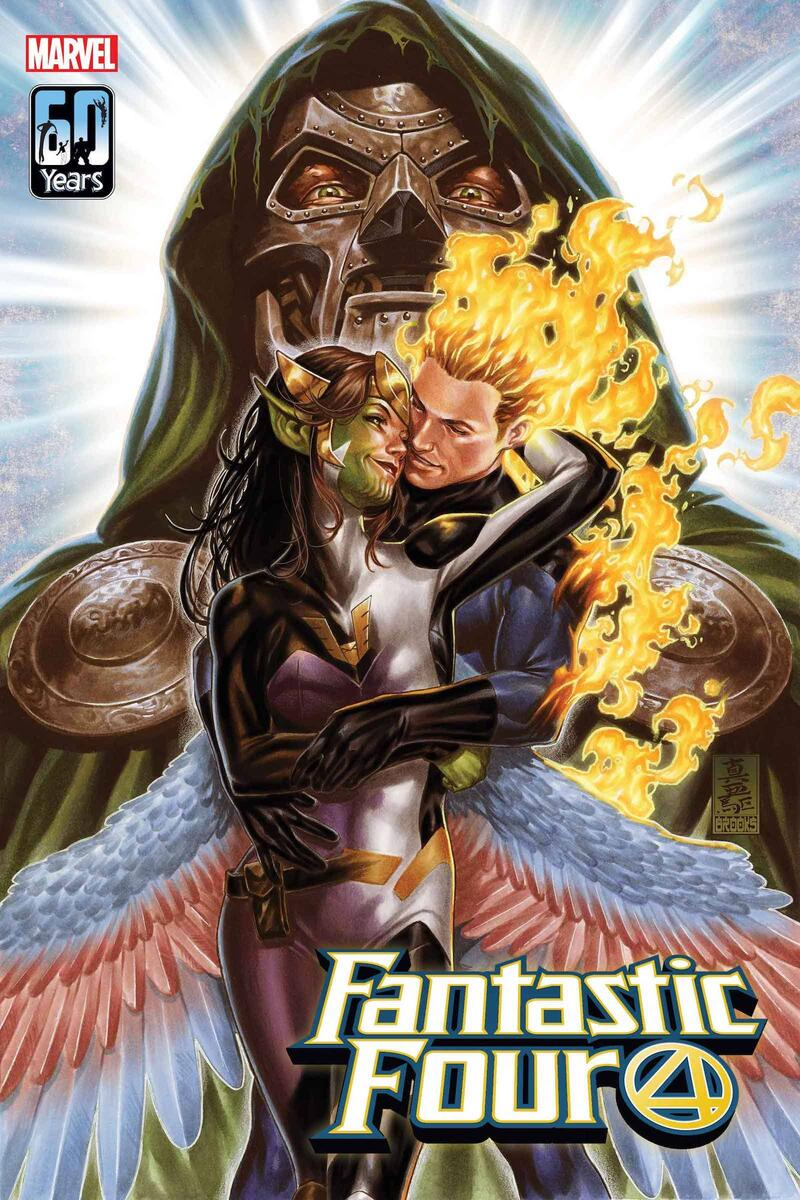 FANTASTIC FOUR #32 cover by Mark Brooks
