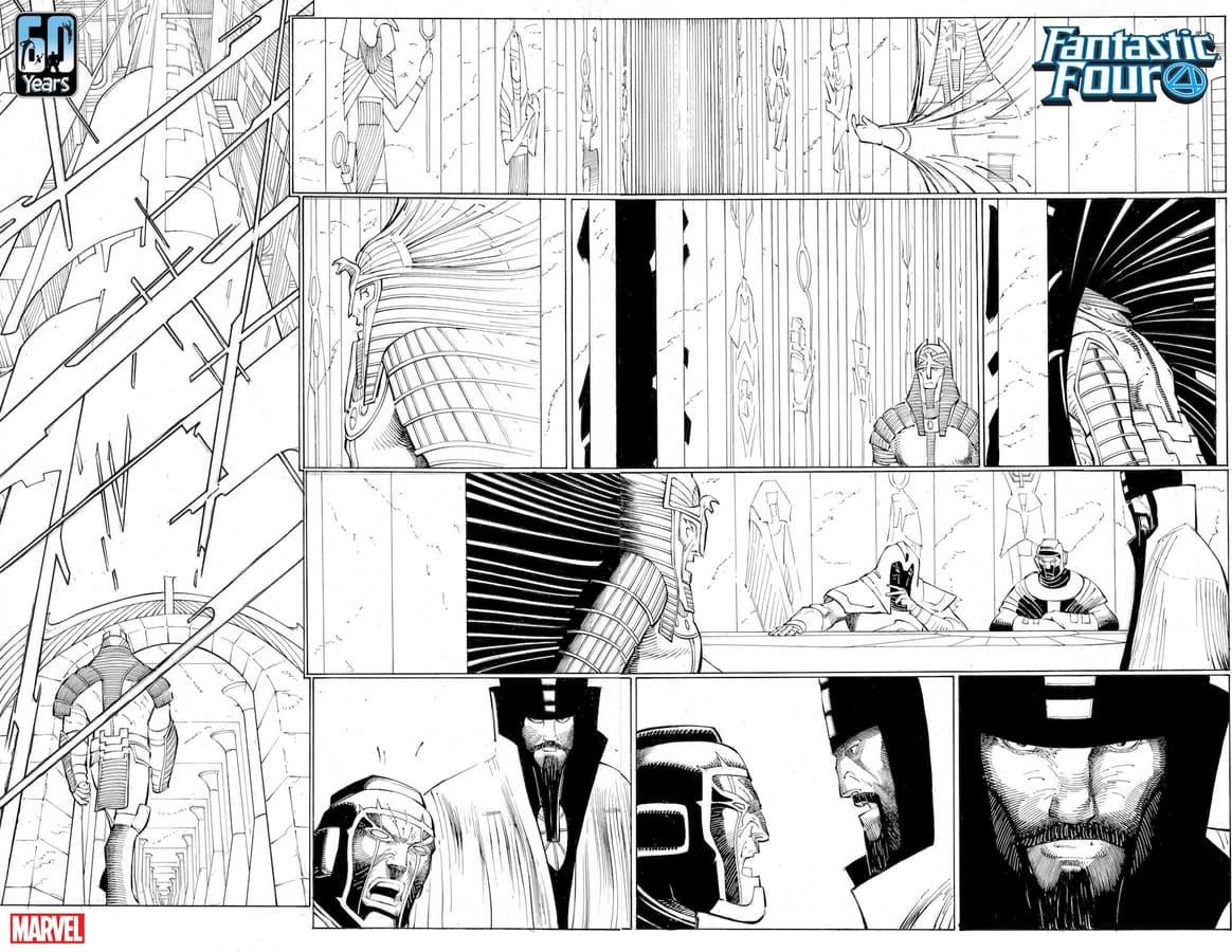 FANTASTIC FOUR #35 preview inks by John Romita Jr. and JP Mayer