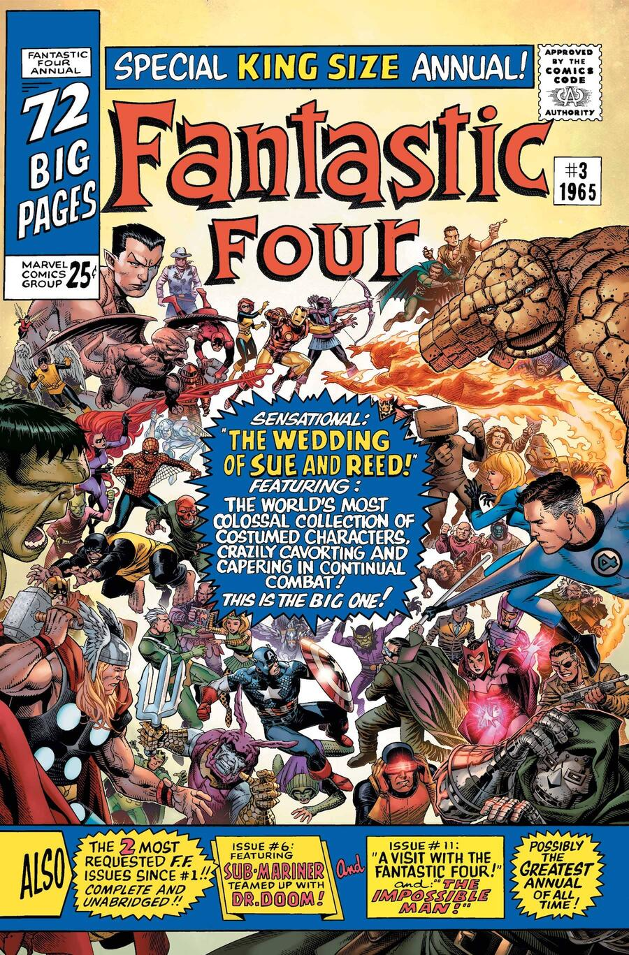 FANTASTIC FOUR ANNIVERSARY TRIBUTE #1 variant cover by Jim Cheung