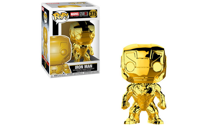 Iron Man Marvel Studios 10 Chrome Funko Pop!