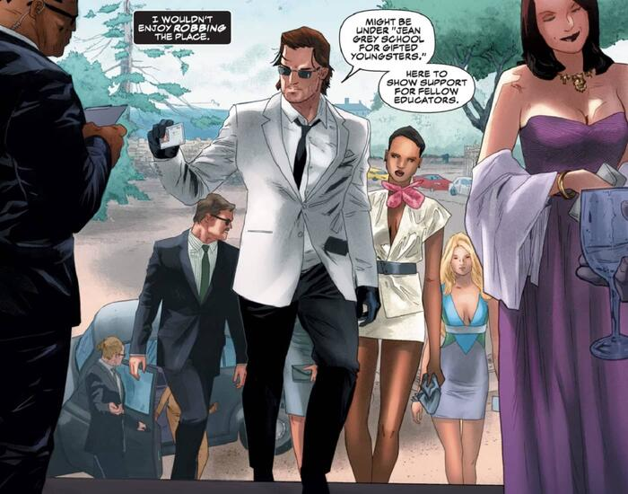 Gambit shows up to an event in 007 style in GAMBIT (2012) #1.