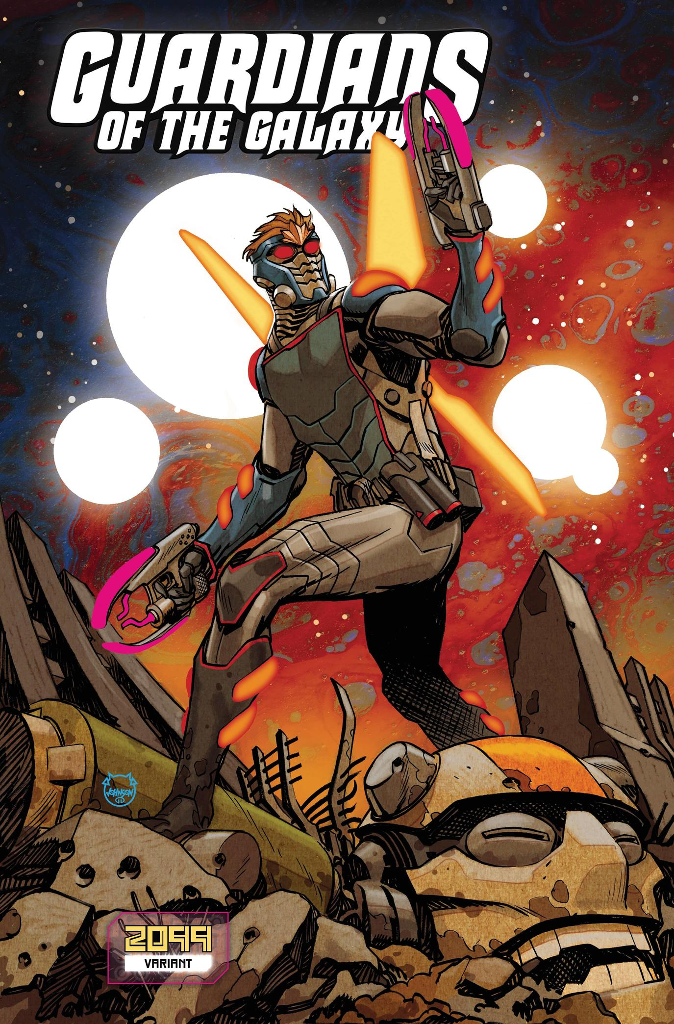 GUARDIANS OF THE GALAXY #11 variant art by Dave Johnson