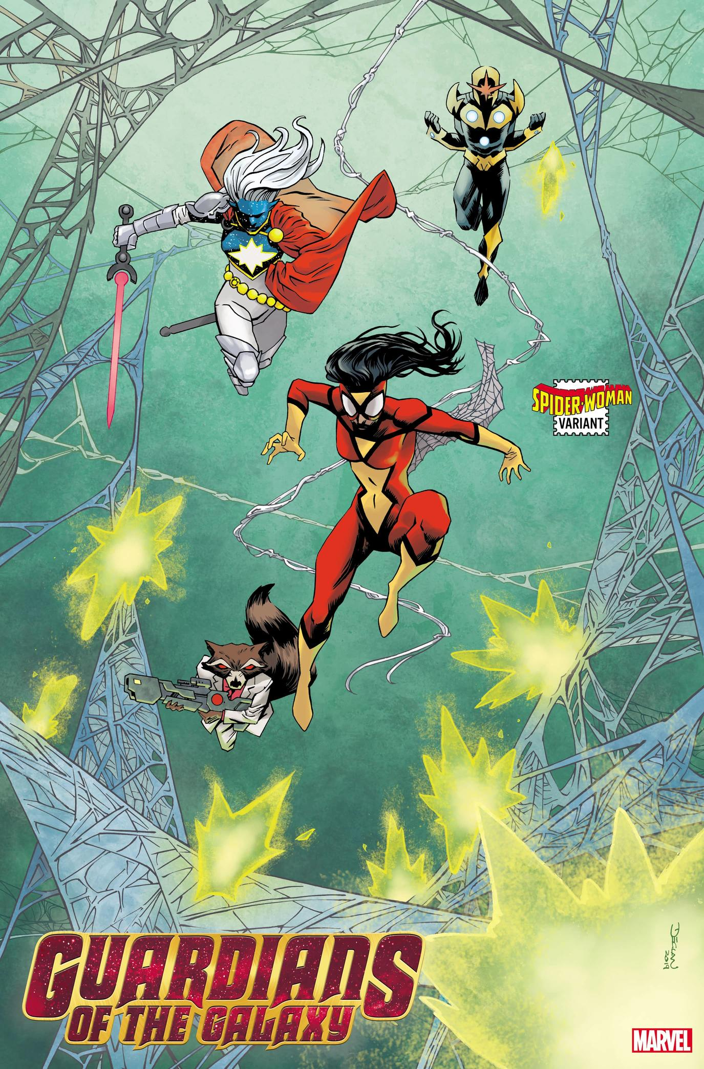 GUARDIANS OF THE GALAXY #3 SPIDER-WOMAN VARIANT by DECLAN SHALVEY