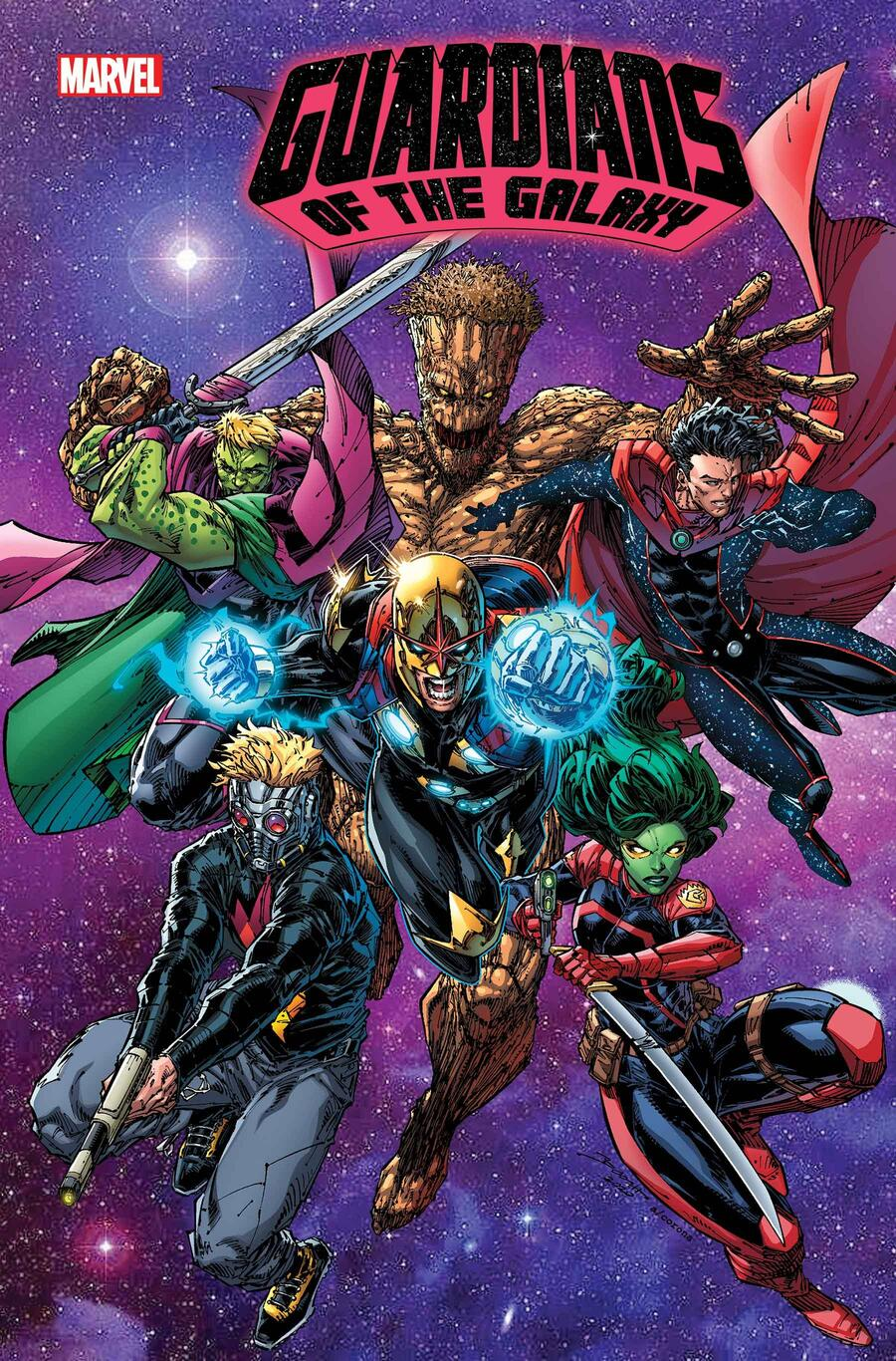 GUARDIANS OF THE GALAXY #13 cover by Brett Booth