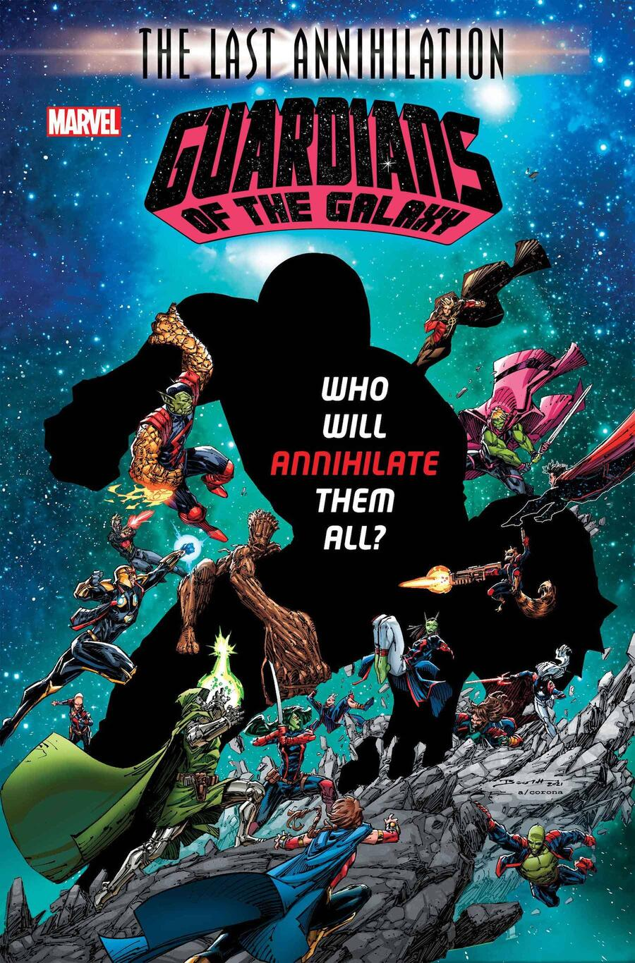 GUARDIANS OF THE GALAXY #16 cover by Brett Booth