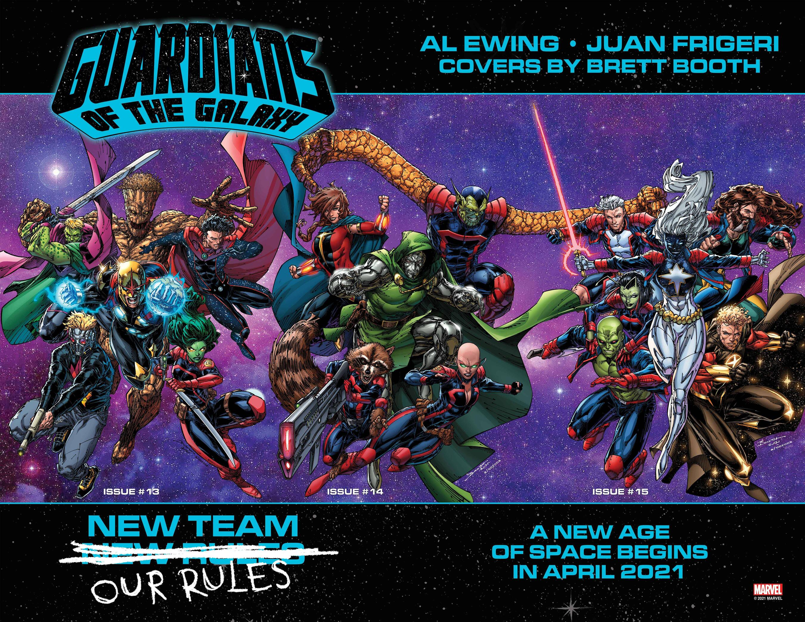 Guardians of the Galaxy connecting covers revealed