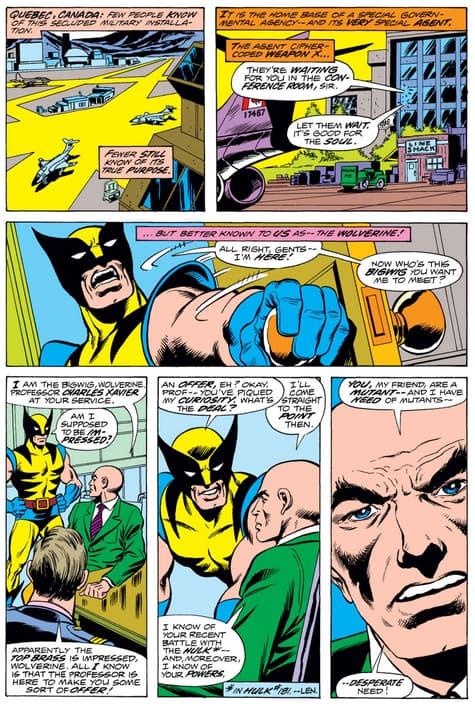 Professor X recruits Wolverine