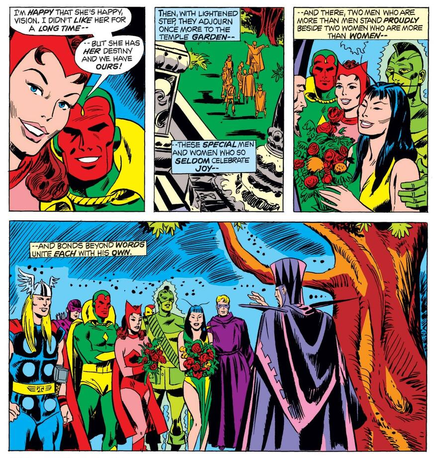 The (double) wedding of Scarlet Witch and Vision!