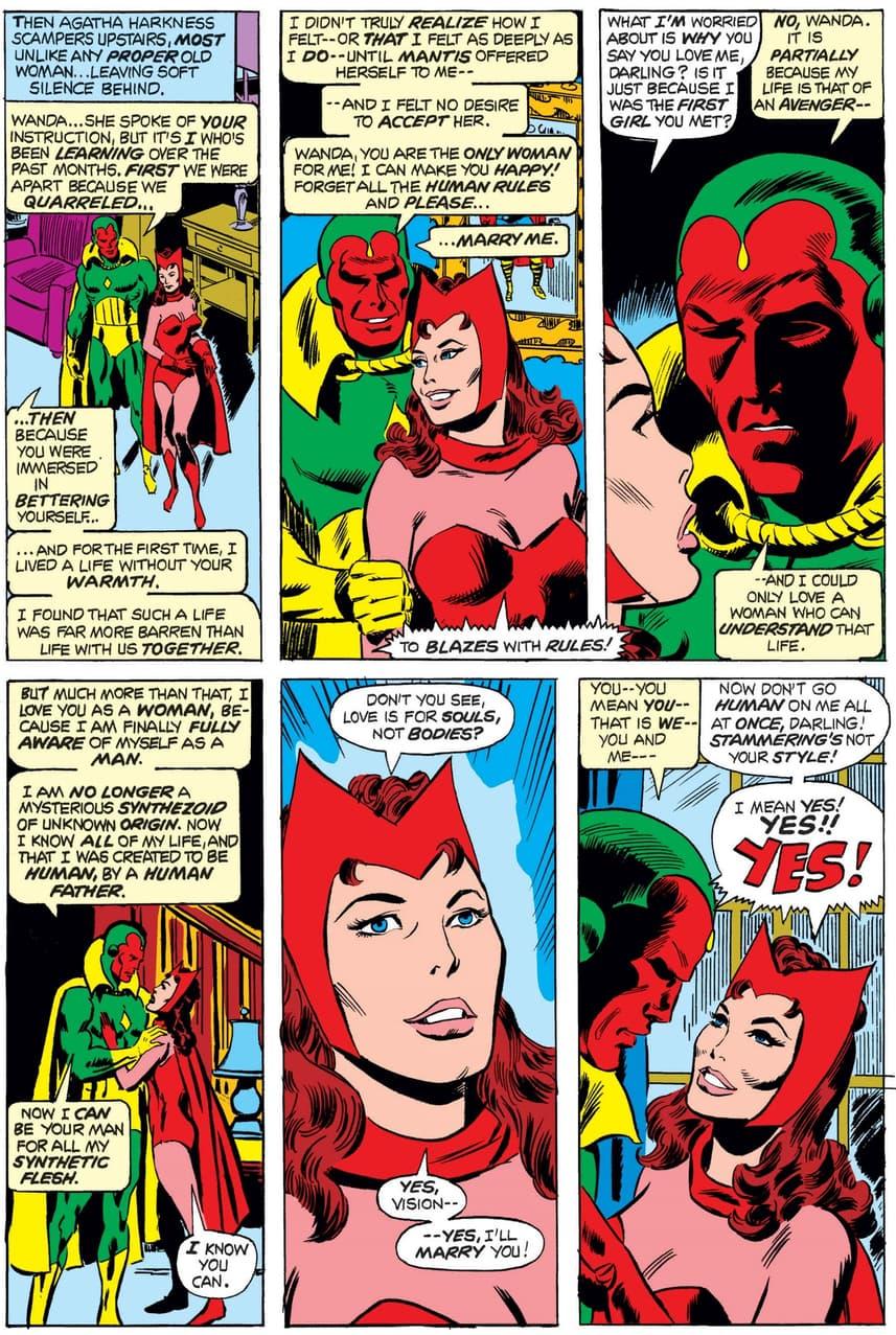 Vision proposes to Wanda.