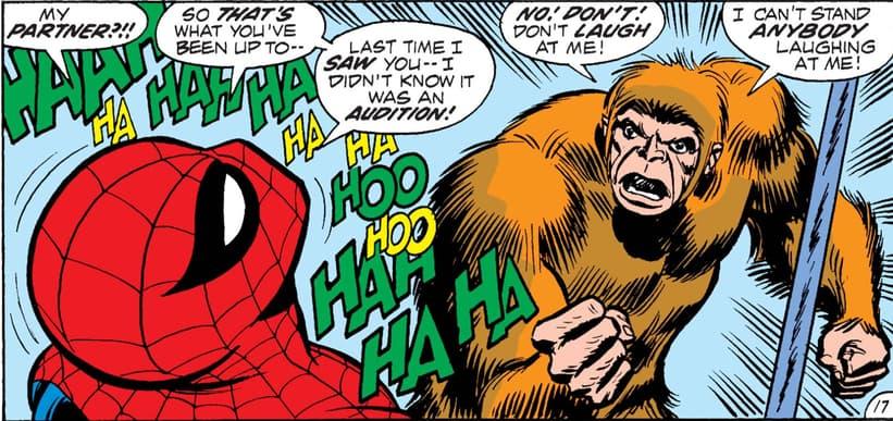 Spider-Man laughs at Gibbon