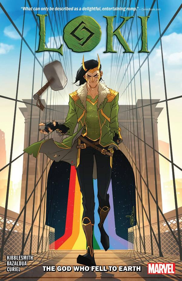 Cover to LOKI: THE GOD WHO FELL TO EARTH.