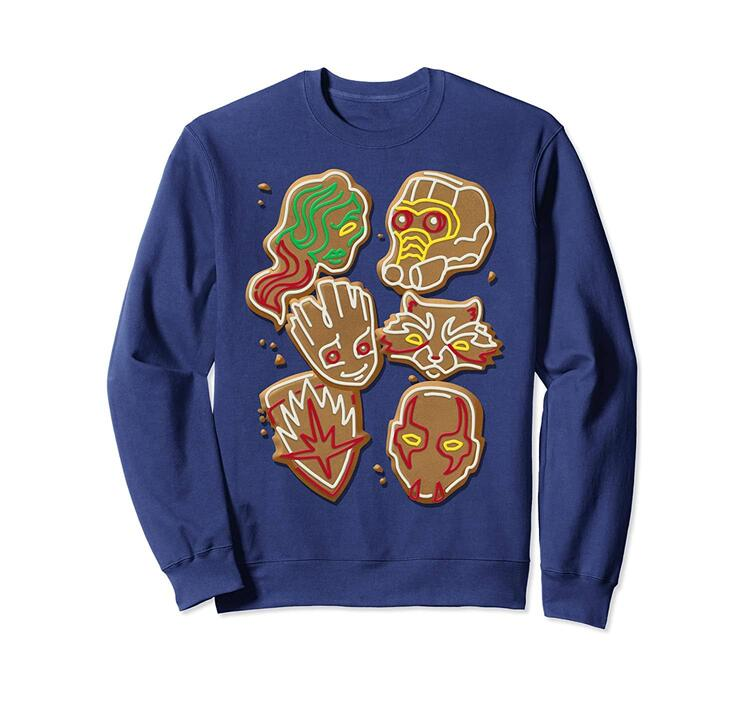 Guardians Of The Galaxy Gingerbread Cookies Christmas Sweatshirt