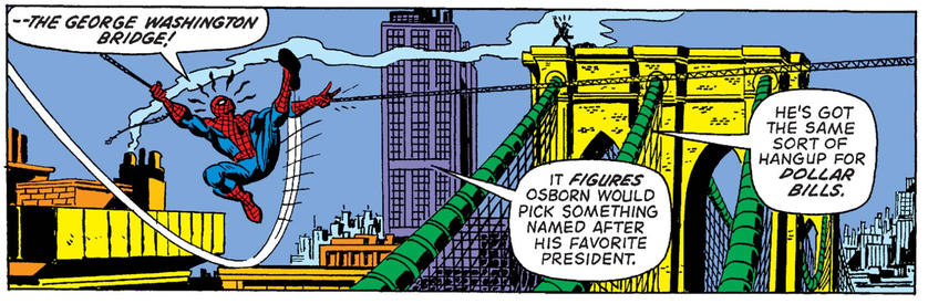 George Washington Bridge Spider-Man