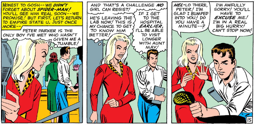 Gwen Stacy gets rejected by Peter Parker
