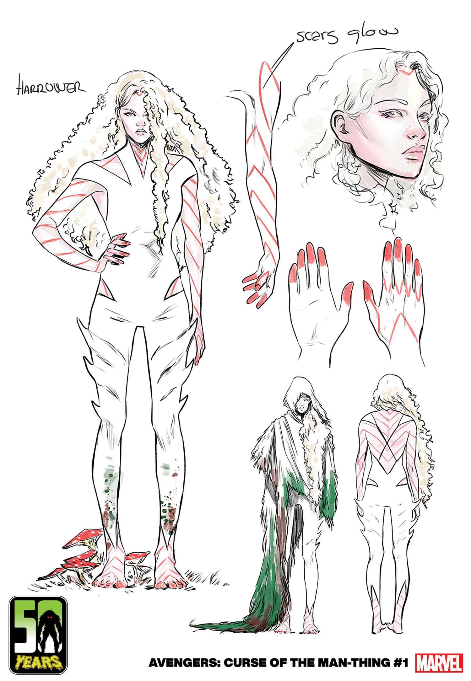 Harrower characters design