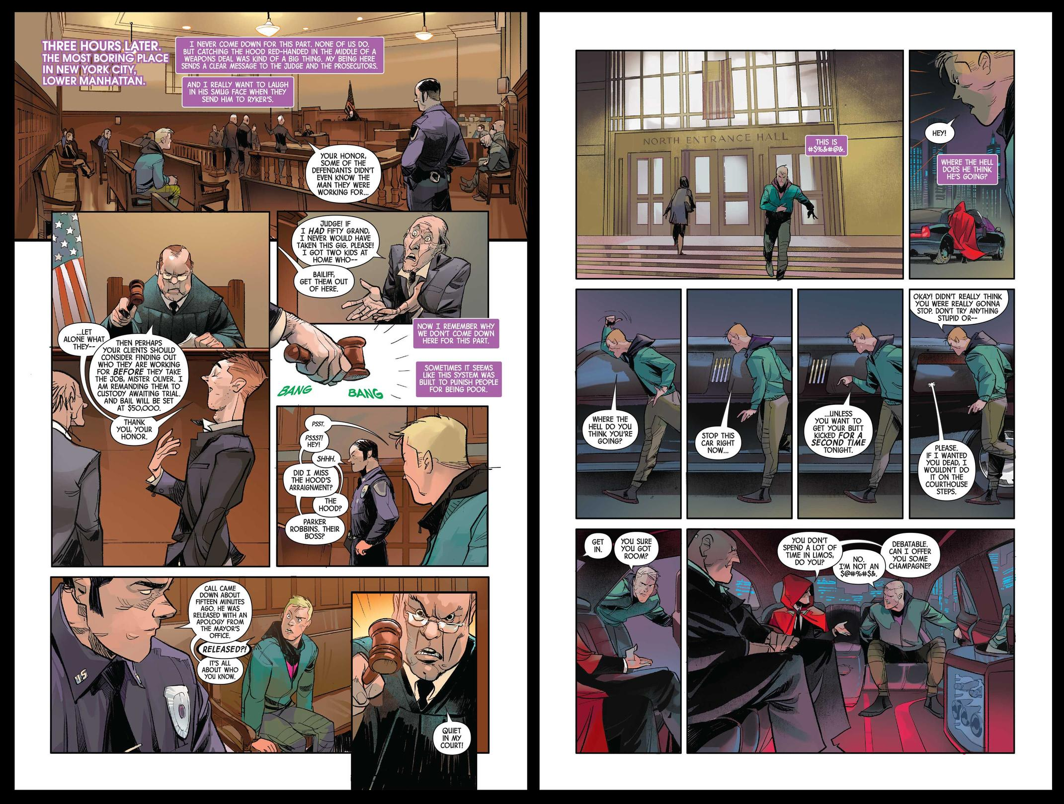 Hawkeye Freefall preview pages