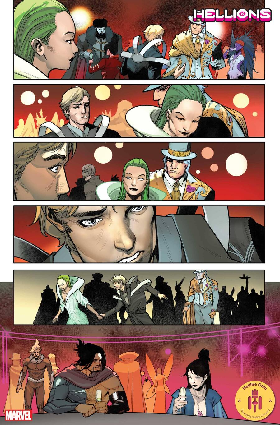HELLIONS #12 preview art by Stephen Segovia with colors by David Curiel