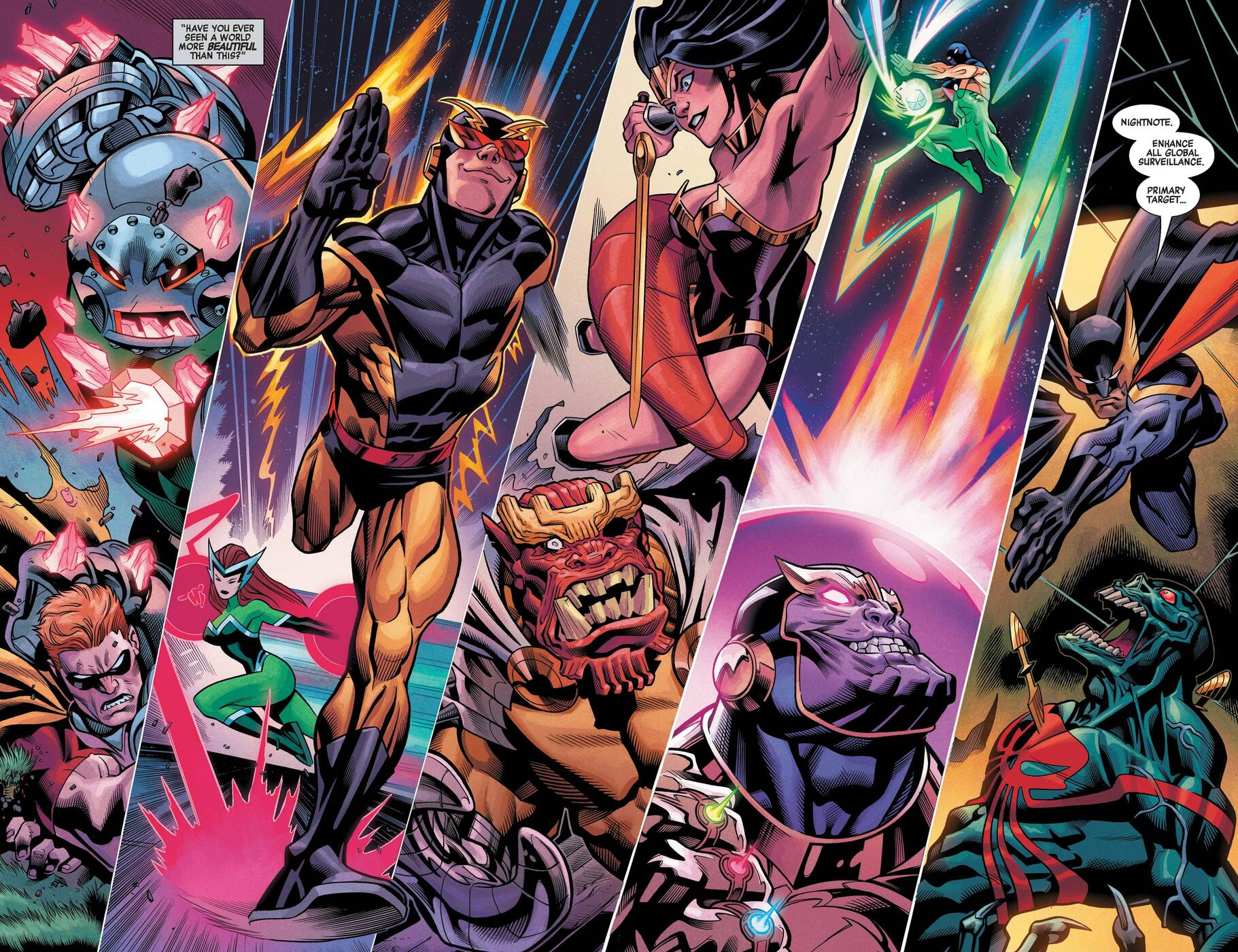 The Squadron Supreme of America saves the world.
