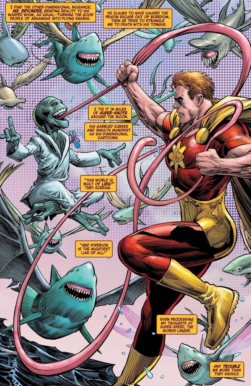 Hyperion versus a new enemy in HEROES REBORN (2021) #2.