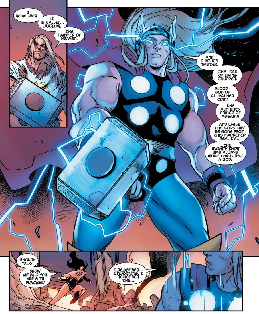 Thor Odinson remembers in HEROES REBORN #6.