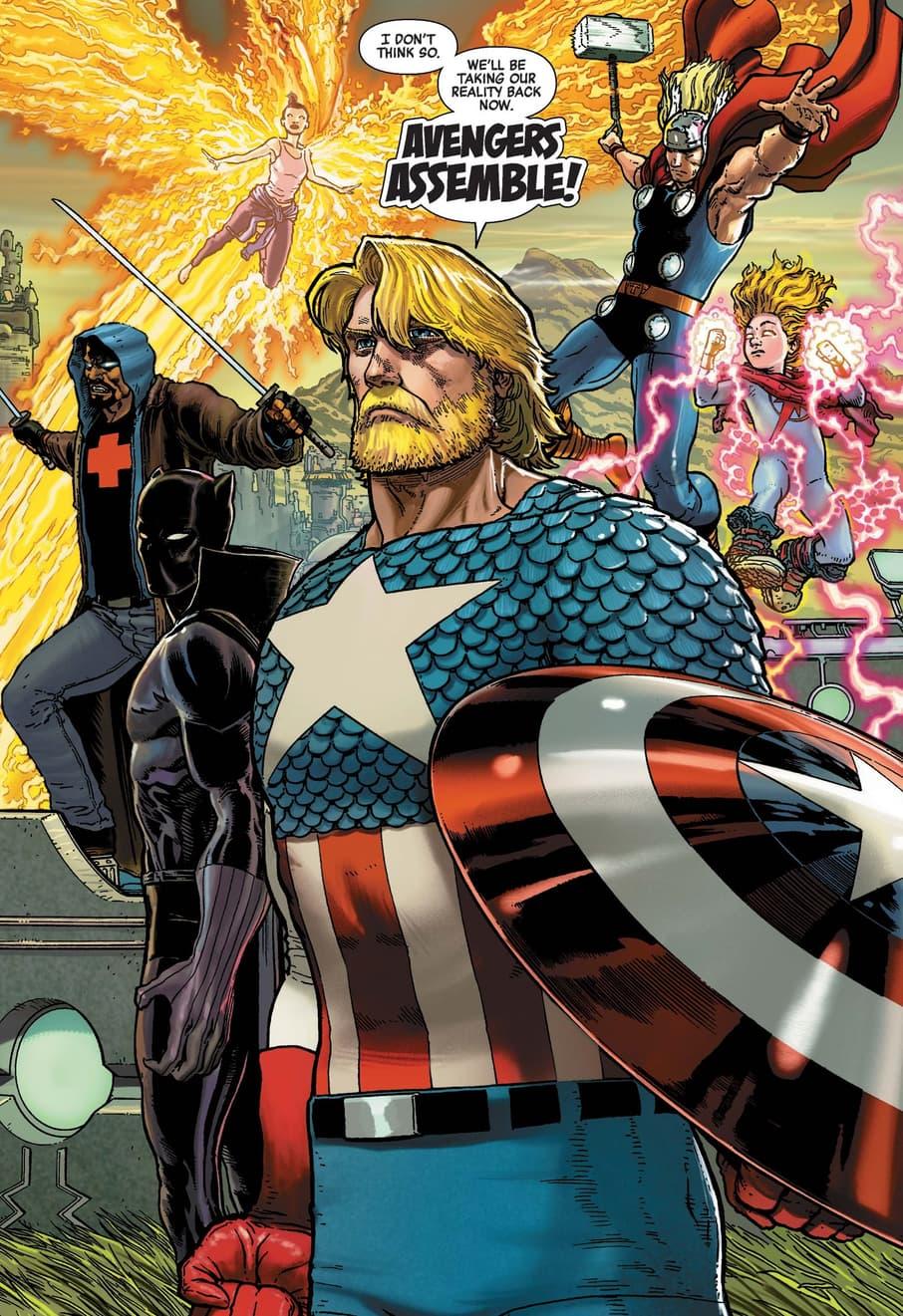Steve Rogers assembles the Avengers in HEROES REBORN (2021) #7.