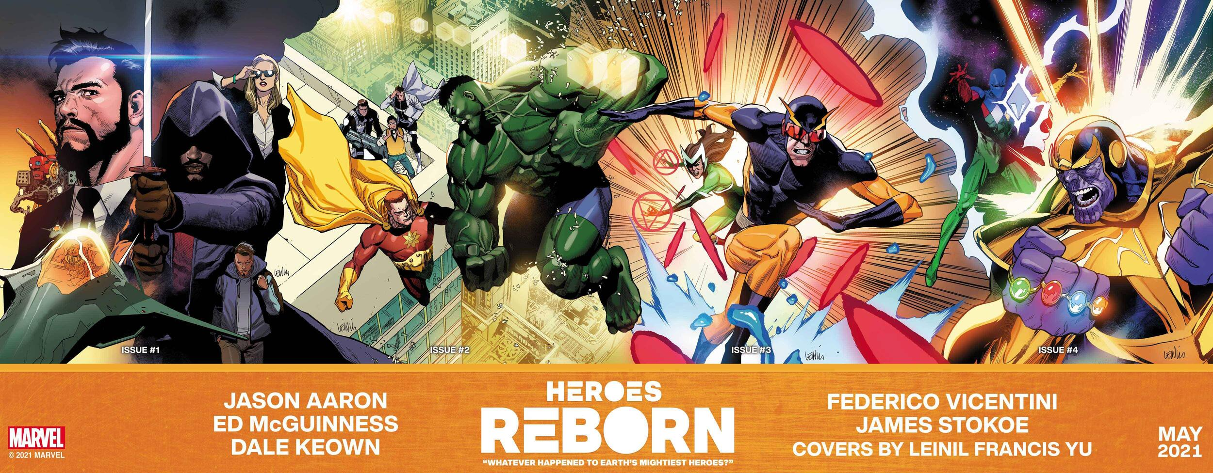 Heroes Reborn connected covers
