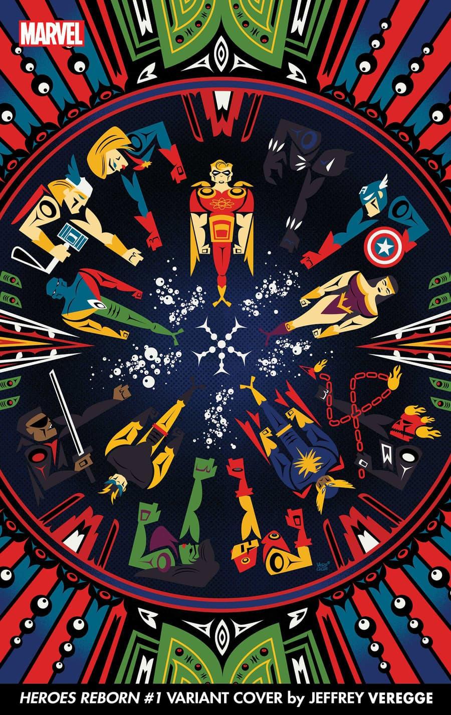 Jeffrey Veregge Heroes Reborn Variants