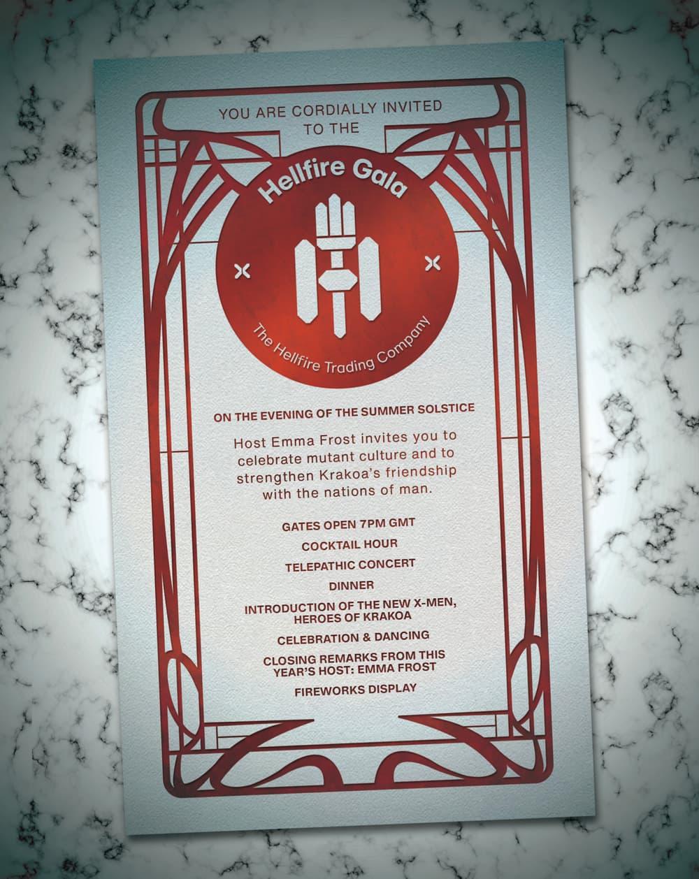 Hellfire Gala invite