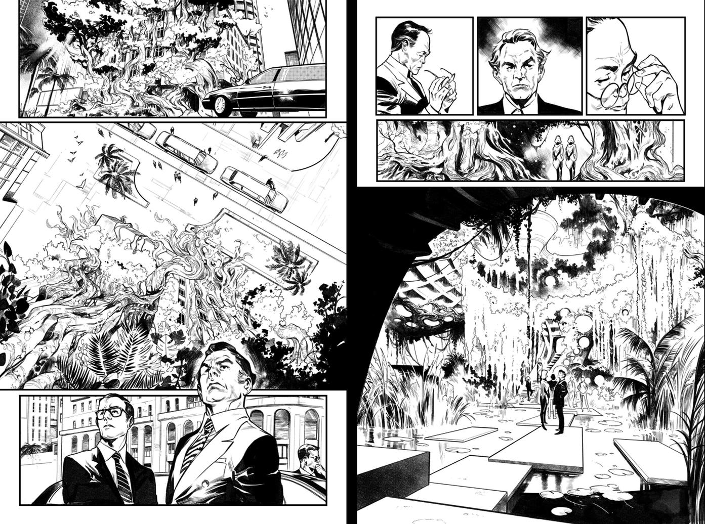 House of X 1 pages 5 and 7