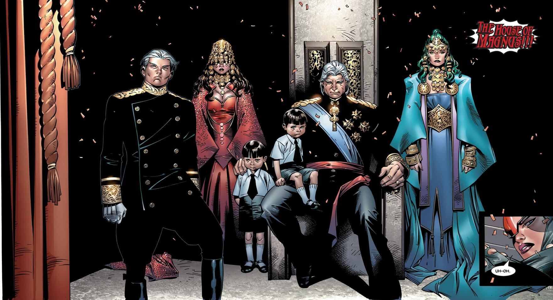 The House of Magnus takes their place in HOUSE OF M (2005) #6.