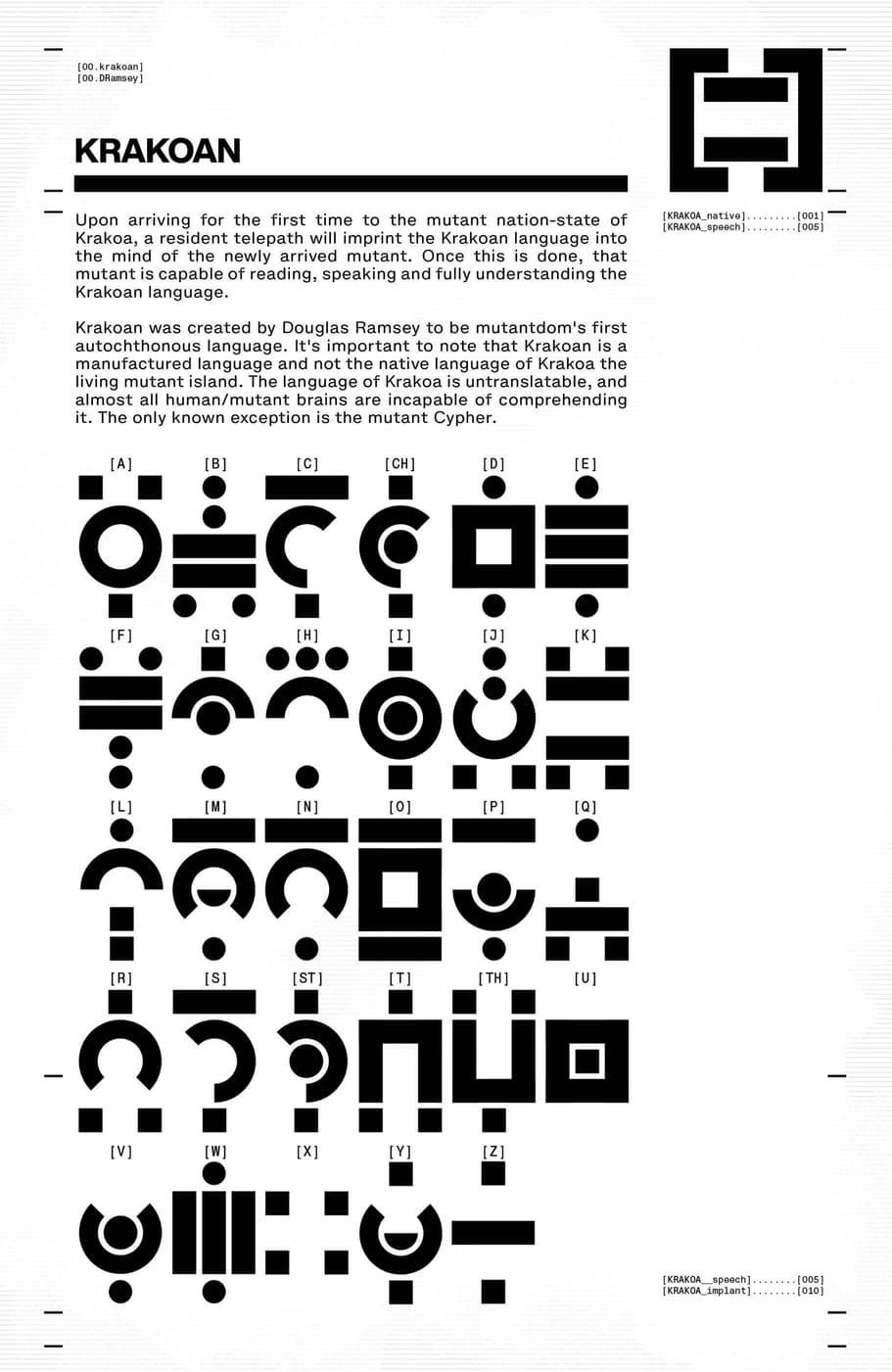 Krakoan Alphabet