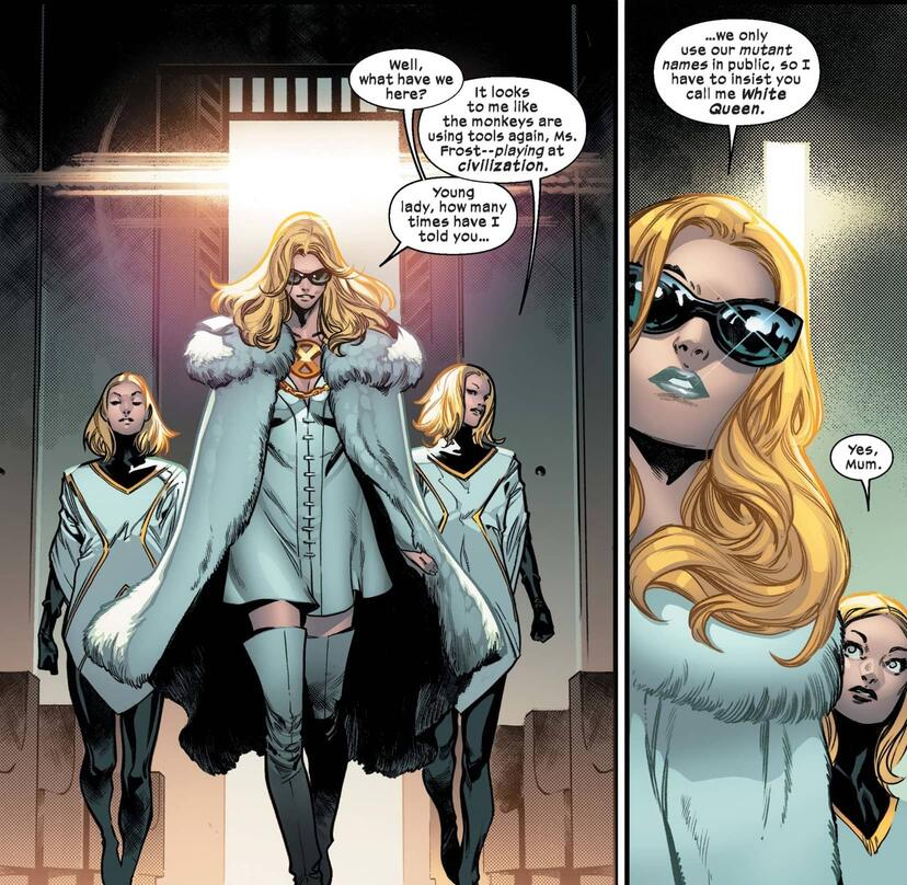 Her ambassadorial look from HOUSE OF X (2019) #3.