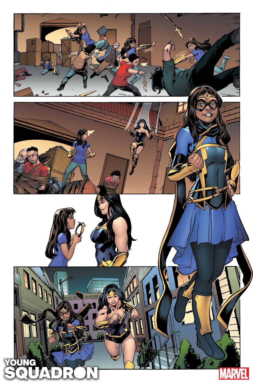 HEROES REBORN: YOUNG SQUADRON #1 preview art by Steven Cummings with colors by Erick Arciniega