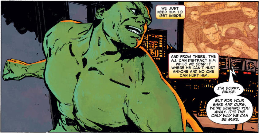Hulk is banished by the Illuminati