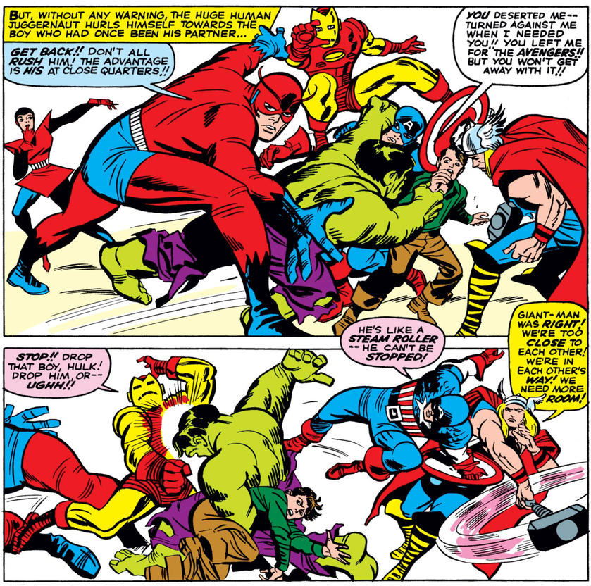 Hulk Avengers Fight Fantastic Four 26