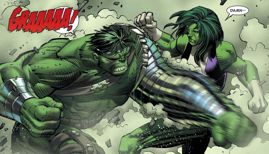 Hulk Fights She Hulk