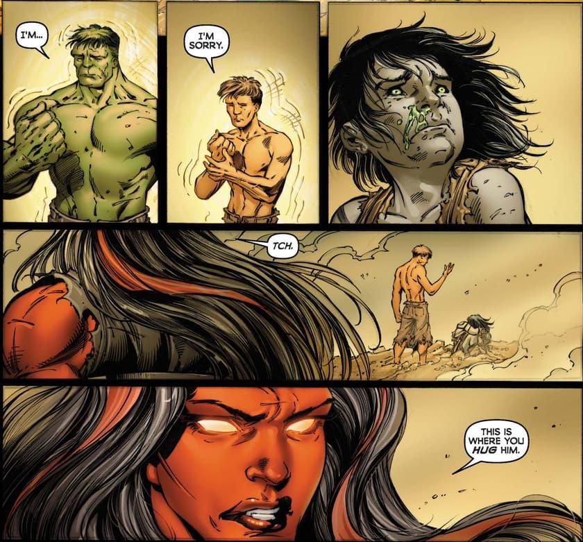 Hulk, Skaar, and Betty